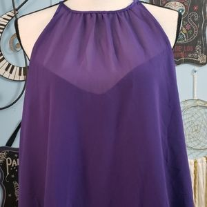 Eva Mendes NY&C Purple Top sz M, NWOT